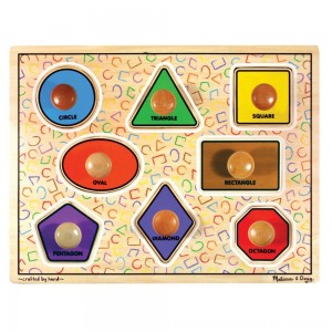 Black Friday 2020 - Melissa & Doug Large Shapes Jumbo Knob Wooden Puzzle (8pc)