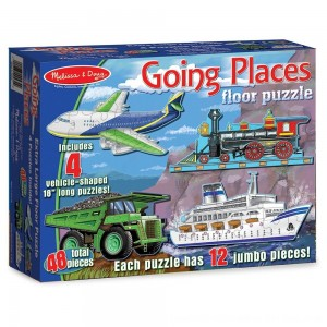 Black Friday 2020 - Melissa And Doug Going Places Vehicles Floor Puzzles 48pc