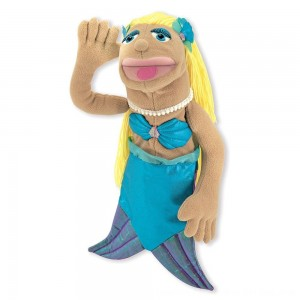 Black Friday 2020 - Melissa & Doug Mermaid Puppet With Detachable Wooden Rod for Animated Gestures