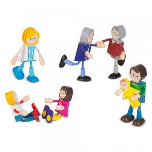 Black Friday 2020 - Melissa & Doug Wooden Flexible Figures - Family