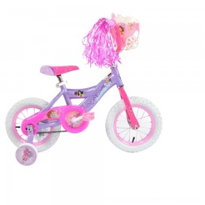 "Black Friday 2020 - Huffy Disney Princess Cruiser Bike 12"" - Purple, Girl's"