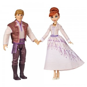 Black Friday 2020 - Disney Frozen 2 Anna and Kristoff Fashion Dolls 2pk