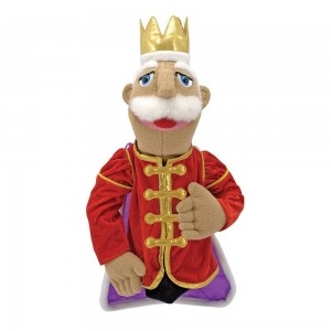 Black Friday 2020 - Melissa & Doug King Puppet With Detachable Wooden Rod for Animated Gestures