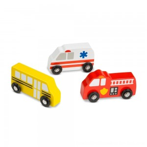 Black Friday 2020 - Melissa & Doug Wooden Town Vehicles Set