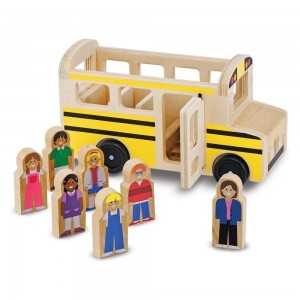Black Friday 2020 - Melissa & Doug School Bus Wooden Play Set With 7 Play Figures