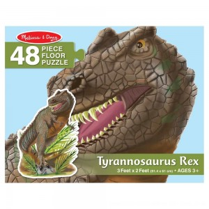 Black Friday 2020 - Melissa & Doug T-Rex Dinosaur Jumbo Jigsaw Floor Puzzle 48pc