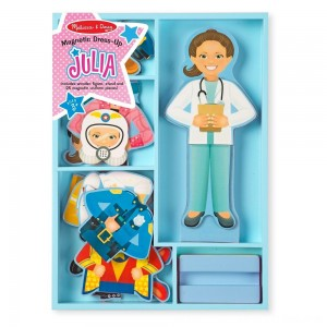 Black Friday 2020 - Melissa & Doug Julia Magnetic Dress-Up Wooden Doll Pretend Play Set (25+pc)