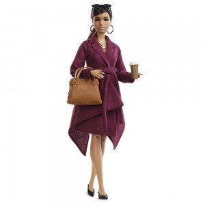 Black Friday 2020 - Barbie Signature Styled By Chriselle Lim Collector Doll in Burgundy Trench Dress