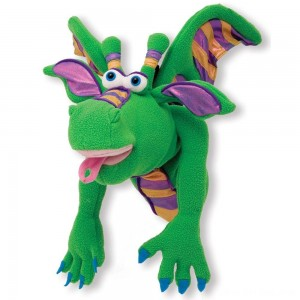 Black Friday 2020 - Melissa & Doug Smoulder the Dragon Puppet With Detachable Wooden Rod for Animated Gestures