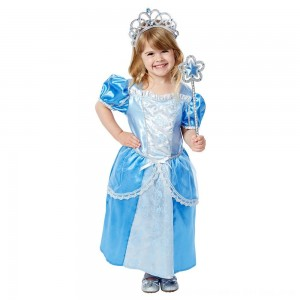 Black Friday 2020 - Melissa & Doug Royal Princess Role Play Costume Set (3pc) - Blue Gown, Tiara, Wand, Women's, Size: Small