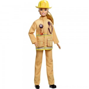 Black Friday 2020 - Barbie Careers 60th Anniversary Firefighter Doll