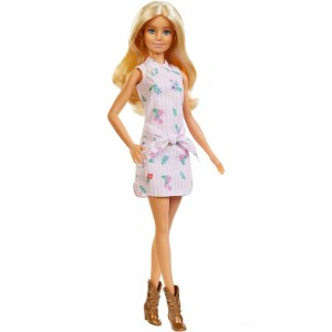Black Friday 2020 - Barbie Fashionistas Doll #119 Pink Shirt Dress