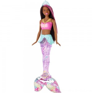 Black Friday 2020 - Barbie Dreamtopia Sparkle Lights Mermaid - Brunette