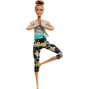 Black Friday 2020 - Barbie Made To Move Yoga Doll - Floral Blue