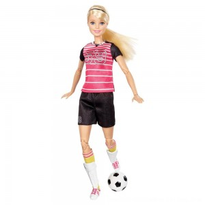 Black Friday 2020 - Barbie Made To Move Soccer Player Doll