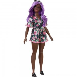 Black Friday 2020 - Barbie Fashionistas Doll #125 Black Floral Dress