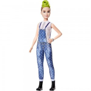 Black Friday 2020 - Barbie Fashionistas Doll #124 Green Mohawk