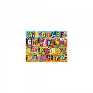 Black Friday 2020 - Melissa & Doug Jumbo ABC Wooden Chunky Puzzle (26pc)