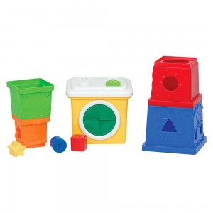 Black Friday 2020 - Melissa & Doug K's Kids Stacking Blocks Set With Sorting Shapes