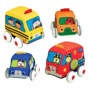Black Friday 2020 - Melissa & Doug K's Kids Pull-Back Vehicle Set - Soft Baby Toy Set With 4 Cars and Trucks and Carrying Case