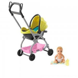 Black Friday 2020 - Barbie Skipper Babysitter Inc. Stroller and Baby Playset