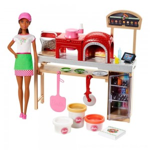 Black Friday 2020 - Barbie Careers Pizza Chef Nikki Doll and Playset