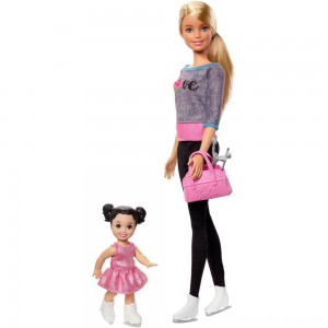 Black Friday 2020 - Barbie Ice-skating Coach Dolls & Playset