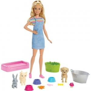 Black Friday 2020 - Barbie Play 'n' Wash Pets Doll and Playset
