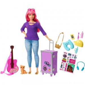 Black Friday 2020 - Barbie Daisy Travel Doll & Kitten Playset
