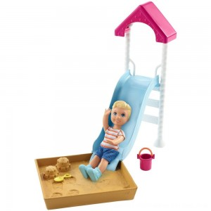Black Friday 2020 - Barbie Skipper Babysitters Inc. Friend Doll and Playground Playset