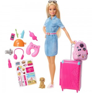 Black Friday 2020 - Barbie Travel Doll & Puppy Playset
