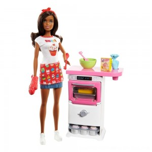 Black Friday 2020 - Barbie Bakery Chef Nikki Doll and Playset