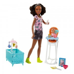 Black Friday 2020 - Barbie Skipper Babysitters Inc. Doll and Feeding Playset - Brunette