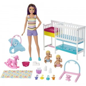 Black Friday 2020 - Barbie Skipper Babysitters Inc Nap 'n' Nurture Nursery Dolls and Playset
