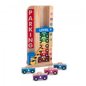 Black Friday 2020 - Melissa & Doug Stack & ct Wooden Parking Garage With 10 Cars