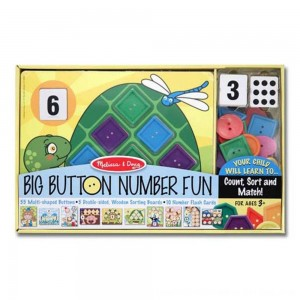 Black Friday 2020 - Melissa & Doug Big Button Number Fun Counting and Matching Activity Set Board Game, Kids Unisex