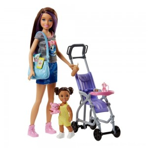 Black Friday 2020 - Barbie Skipper Babysitters Inc. Doll and Stroller Playset