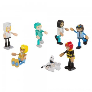 Black Friday 2020 - Melissa & Doug Wooden Flexible Figures - Careers