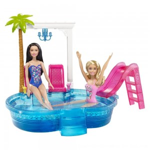 Black Friday 2020 - Barbie Glam Pool with Water Slide & Pool Accessories