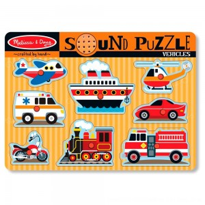 Black Friday 2020 - Melissa & Doug Vehicles Sound Puzzle - 8pc