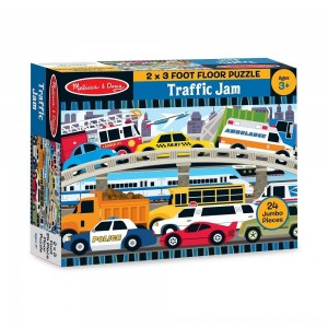 Black Friday 2020 - Melissa And Doug Traffic Jam Jumbo Floor Puzzle 24pc