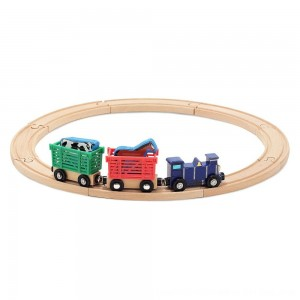 Black Friday 2020 - Melissa & Doug Farm Animal Wooden Train Set (12+pc)