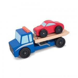 Black Friday 2020 - Melissa & Doug Flatbed Tow Truck Wooden Vehicle Set