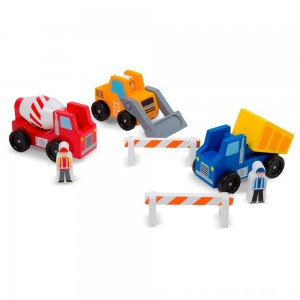 Black Friday 2020 - Melissa & Doug Construction Vehicle Wooden Play Set (8pc)