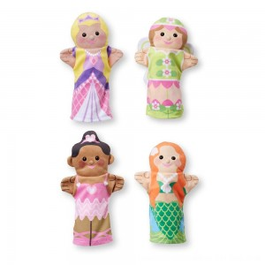 Black Friday 2020 - Melissa & Doug Storybook Friends Hand Puppets (Set of 4) - Princess, Fairy, Mermaid, and Ballerina