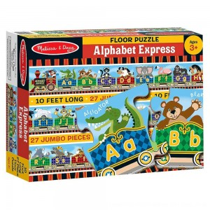 Black Friday 2020 - Melissa & Doug Alphabet Express Jumbo Jigsaw Floor Puzzle (27pc, 10 feet long)