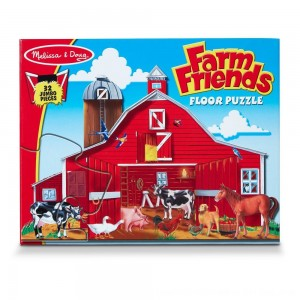 Black Friday 2020 - Melissa And Doug Farm Friends Jumbo Floor Puzzle 32pc