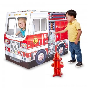 Black Friday 2020 - Melissa & Doug Fire Truck Indoor Playhouse