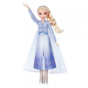 Black Friday 2020 - Disney Frozen 2 Singing Elsa Fashion Doll with Music - Blue