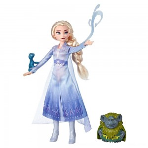 Black Friday 2020 - Disney Frozen 2 Elsa Fashion Doll In Travel Outfit With Pabbie and Salamander Figures